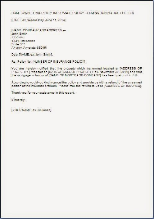 Insurance Policy Cancellation Letter Sample from carautoinsurancequotescomparison.com